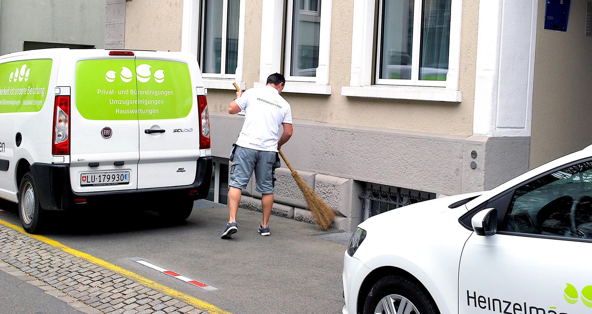 Die Heinzelmännchen - Leistungen - Hauswartung